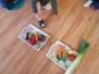 Tydzień warzywny i robienie soczku owocowego