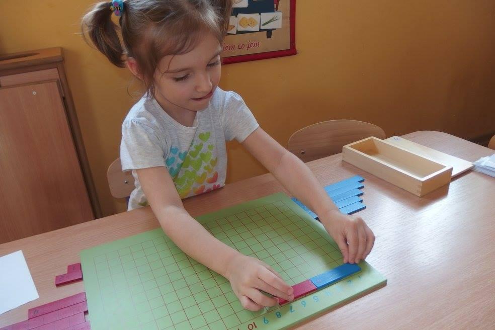 Tablica do dodawania - Praca metodą M. Montessori